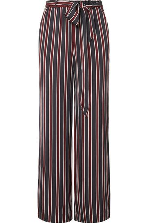 FRAME | Easy striped charmeuse wide-leg pants | NET-A-PORTER.COM