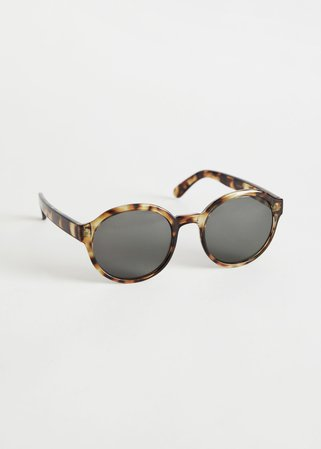 Round Frame Sunglasses - Tortoise - Sunglasses - & Other Stories