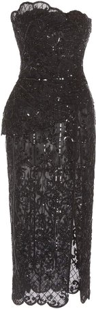 Alicante Embellished Lace-Tulle Dress