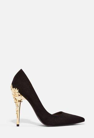 Katniss Embellished Heel Pump in Black - Get great deals at JustFab