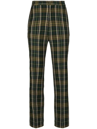 Plan C tartan-check Flares Trousers - Farfetch