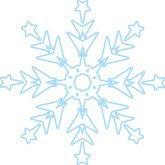 Pink Snowflake Clipart | Snowflake Wedding Clipart