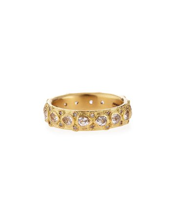 Armenta Yellow Gold Lacy Eternity Stackable Ring
