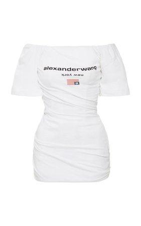 Paneled Zip-Detailed Cotton-Blend Mini Dress by David Koma | Moda Operandi