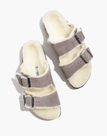 Birkenstock Suede Arizona Sandals in Shearling