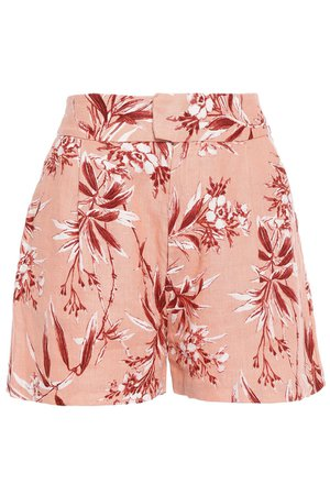 Antique rose Farron floral-print linen shorts | Sale up to 70% off | THE OUTNET | JOIE | THE OUTNET