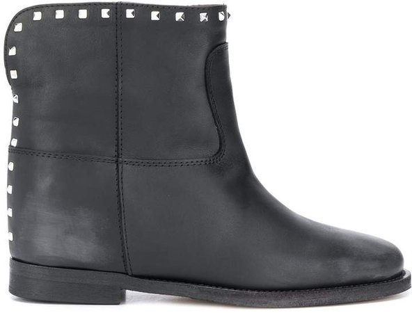 Pyramid Stud Ankle Boots