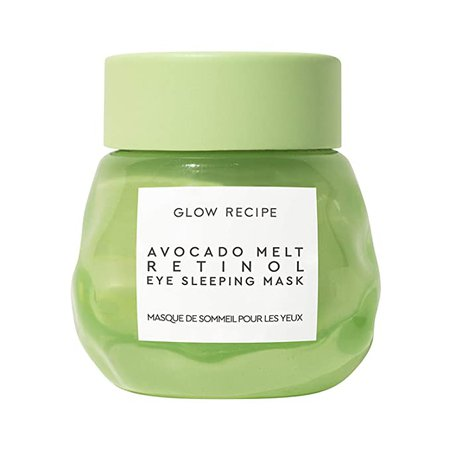 Amazon.com : Glow Recipe Avocado Melt Retinol Eye Sleeping Mask - Overnight Retinol Eye Cream with Avocado Oil + Caffeine - Cruelty-Free Skincare (15ml / 0.5 fl oz) : Beauty