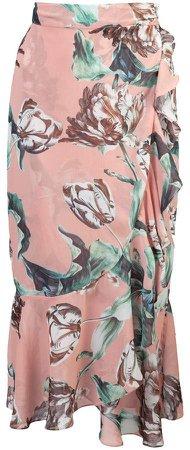 Patbo Botanica print wrap skirt
