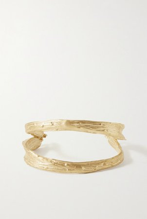 1064 Studio | Deep in Grassland gold-plated bracelet | NET-A-PORTER.COM