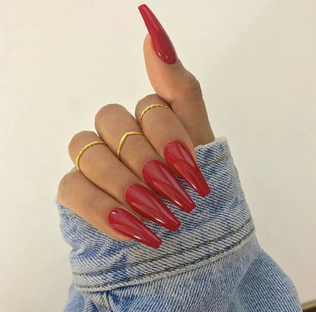 Red Nails | girl, cute et beautiful