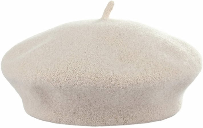 Amazon.com: Kids Girls French Beret Hat Artist Hat Solid Warm Beanie Cap Winter Autumn (Beige, 1): Clothing