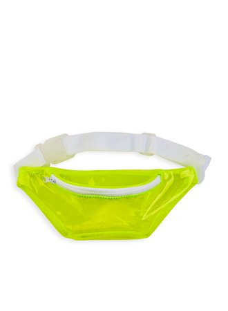 Rainbow Clear Neon Fanny Pack