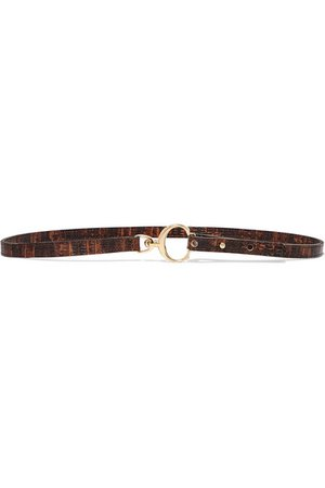 Chloé | Lizard-effect leather belt | NET-A-PORTER.COM
