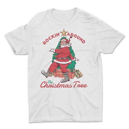Retro Santa Claus Shirt Rockin Around The Christmas Tree | Etsy