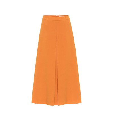 Emilia Wickstead - Sato wool midi skirt | Mytheresa