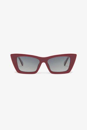 ANINE BING Levi Sunglasses - Burgundy
