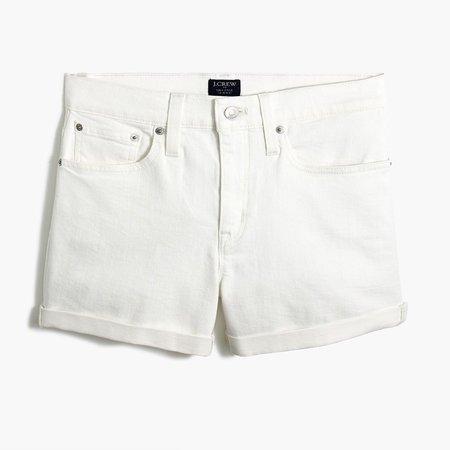 Classic denim short in white