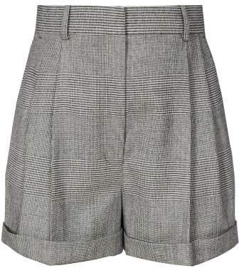 Chaz Prince Of Wales Checked Shorts - Womens - Grey Multi