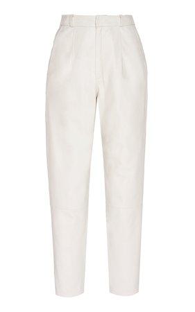 Leather Slim-Leg Trousers by Zeynep Arçay | Moda Operandi