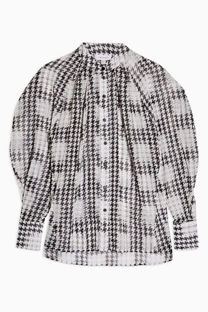 Black And White Houndstooth Shirt | Topshop