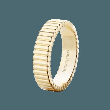 QUATRE GROSGRAIN RING Yellow gold ring