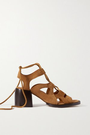 Gaile Leather Sandals - Beige