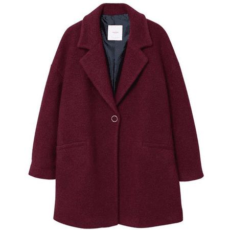 fancy long maroon coat