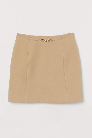 Short Skirt - Beige