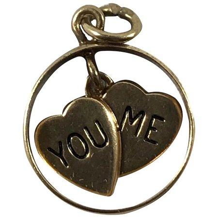 14K Gold Mechanical Heart and Wedding Band Charm : Hob Heaven Antiques | Ruby Lane