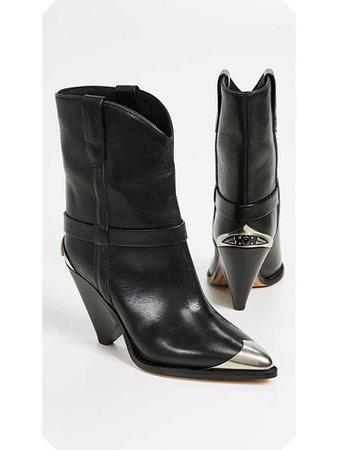 Marant Lamsey Black Western Boots