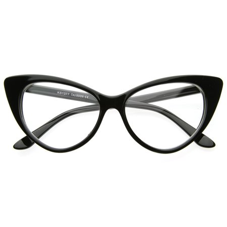 clear cats eye glasses - ZeroUV