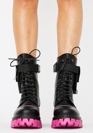 Dolls Kill Banshee Combat Boots