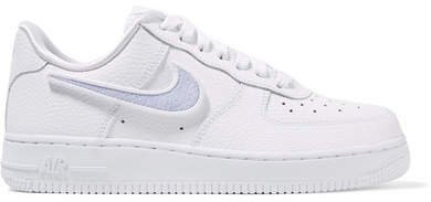 Air Force 1-100 Convertible Textured-leather Sneakers - White