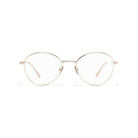 Round Eyeglasses Titanium Pink Gold eyewear   CHANEL