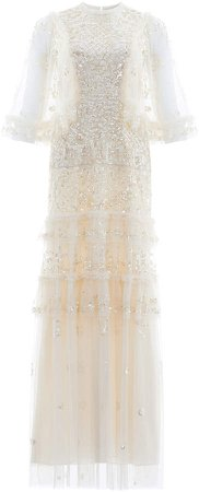 Needle & Thread Melody Sequined Tulle Gown
