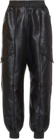 MATERIEL Faux Leather Cargo Pants