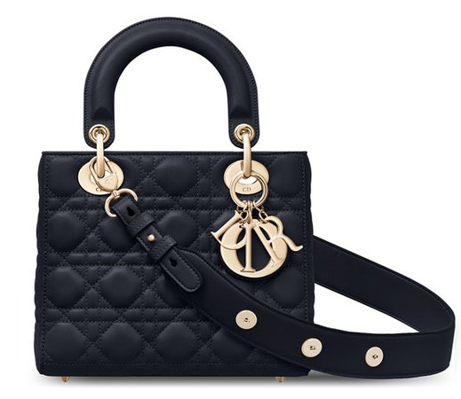 My Lady Dior Bag in Black Lambskin Dior