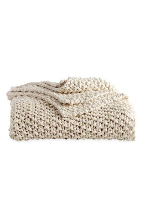 DKNY PURE Chunky Knit Throw Blanket   Nordstrom