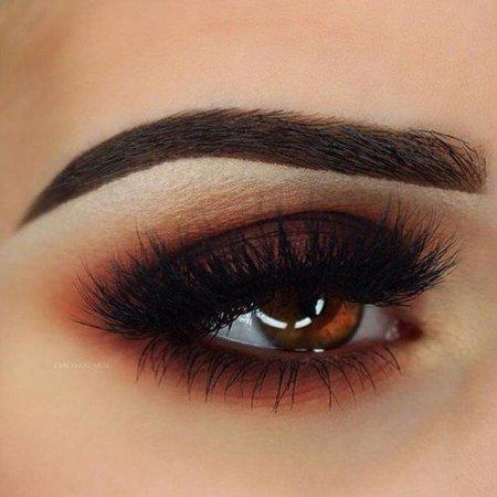 Dark Orange Eyeshadow