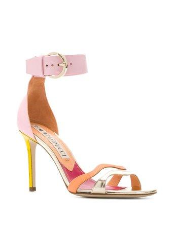Emilio Pucci Strappy colour-block Sandals - Farfetch