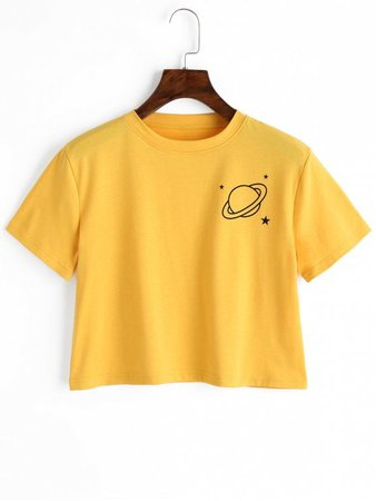 yellow cropped t shirt - Google Search