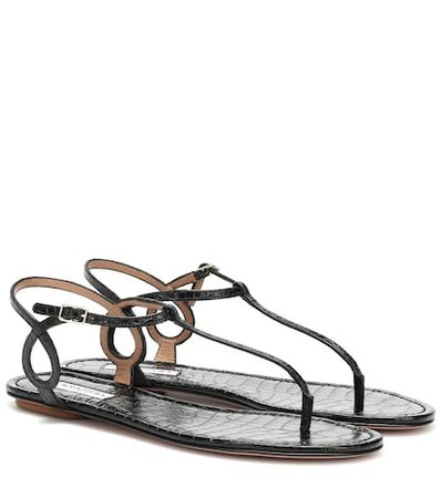 Almost Bare leather sandals