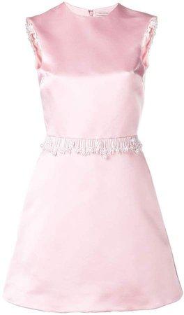 satin pearl dress