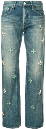 Tu Es Mon Trésor Bijoux embellished jeans