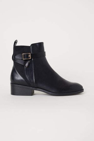 Boots with Straps - Black