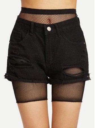 Fishnet Biker Shorts