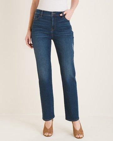 Petite Distressed Straight-Leg Jeans - Chico's