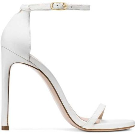 Stuart Weitzman 115NUDISTTRADITIONAL SANDAL (29.920 RUB) ❤ liked on Polyvore featuring shoes, sandals, heels, white shoes, white sandals, stuart weitzman, stuart weitzman shoes and stuart weitzman…
