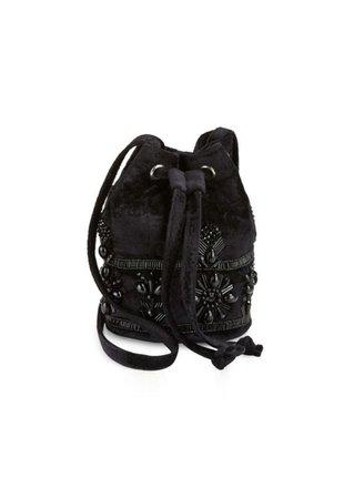 Steve Madden Steve Madden Beaded Velvet Bucket Bag | Handbags